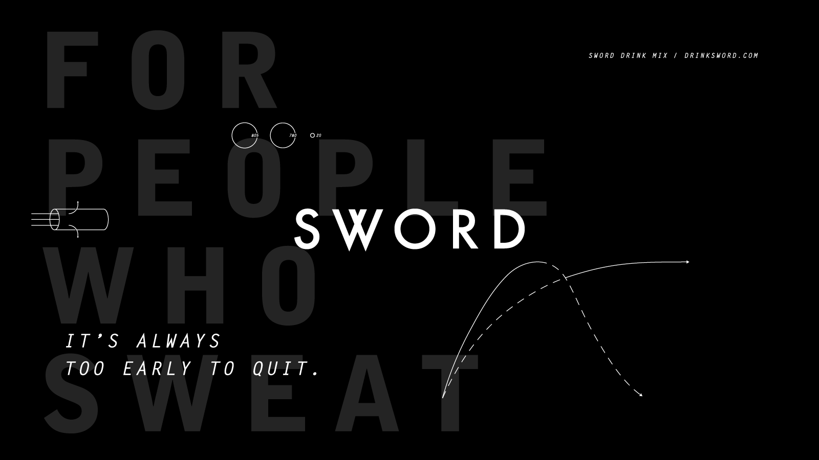 Sword Drink Startup Brand Logo by Bullhorn Creative