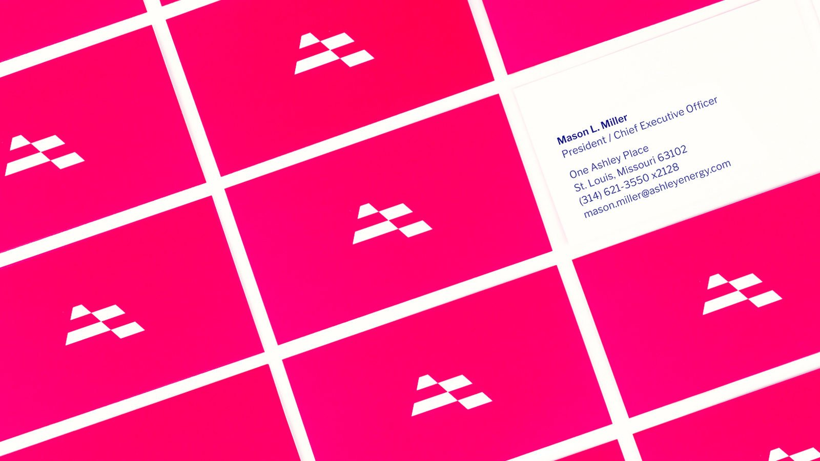 Ashley Energy Civic Brand Identity Business Cards by Bullhorn Creative