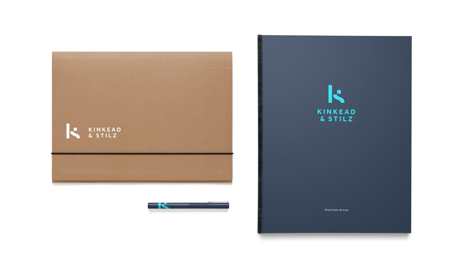 An Identity for Kinkead & Stilz Law By Bullhorn Creative