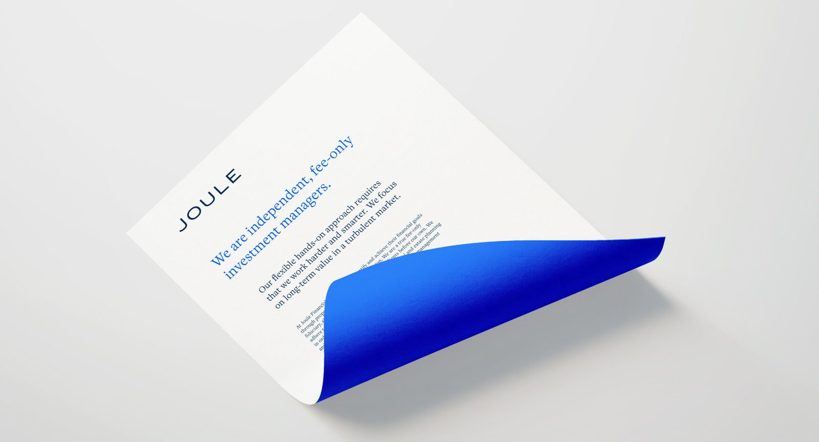 An Identity for Joule Financial By Bullhorn Creative