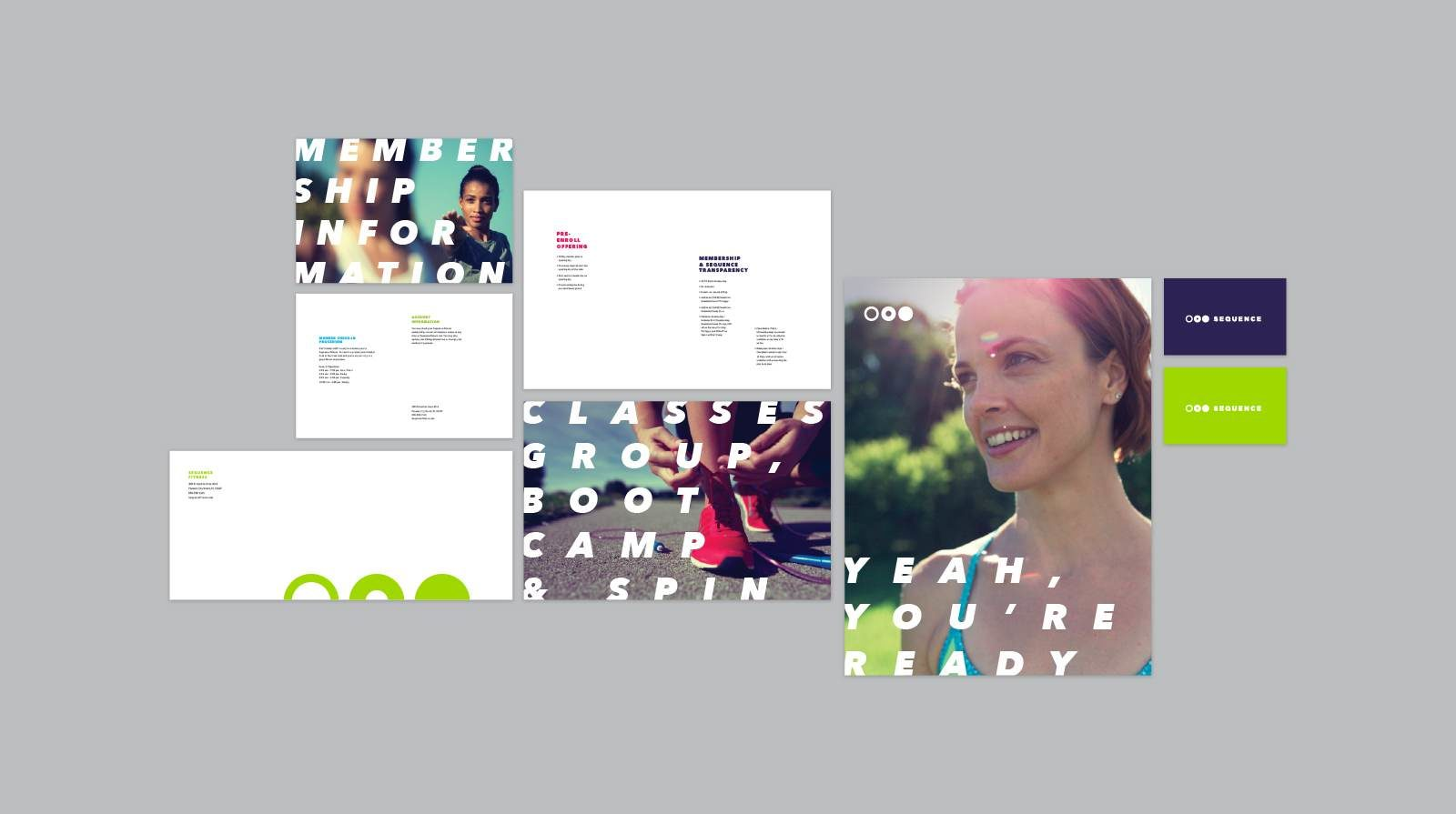A Brand Identity for Sequence Fitness by Bullhorn Creative
