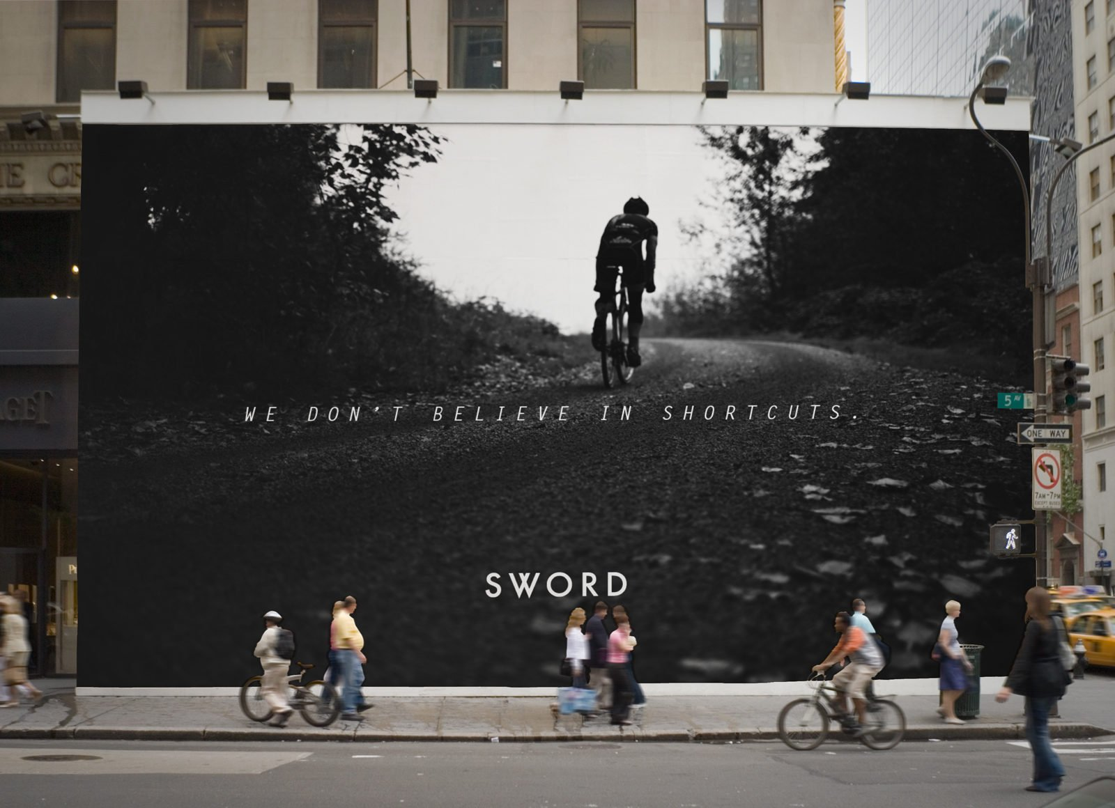 Sword Drink Startup Billboard by Bullhorn Creative