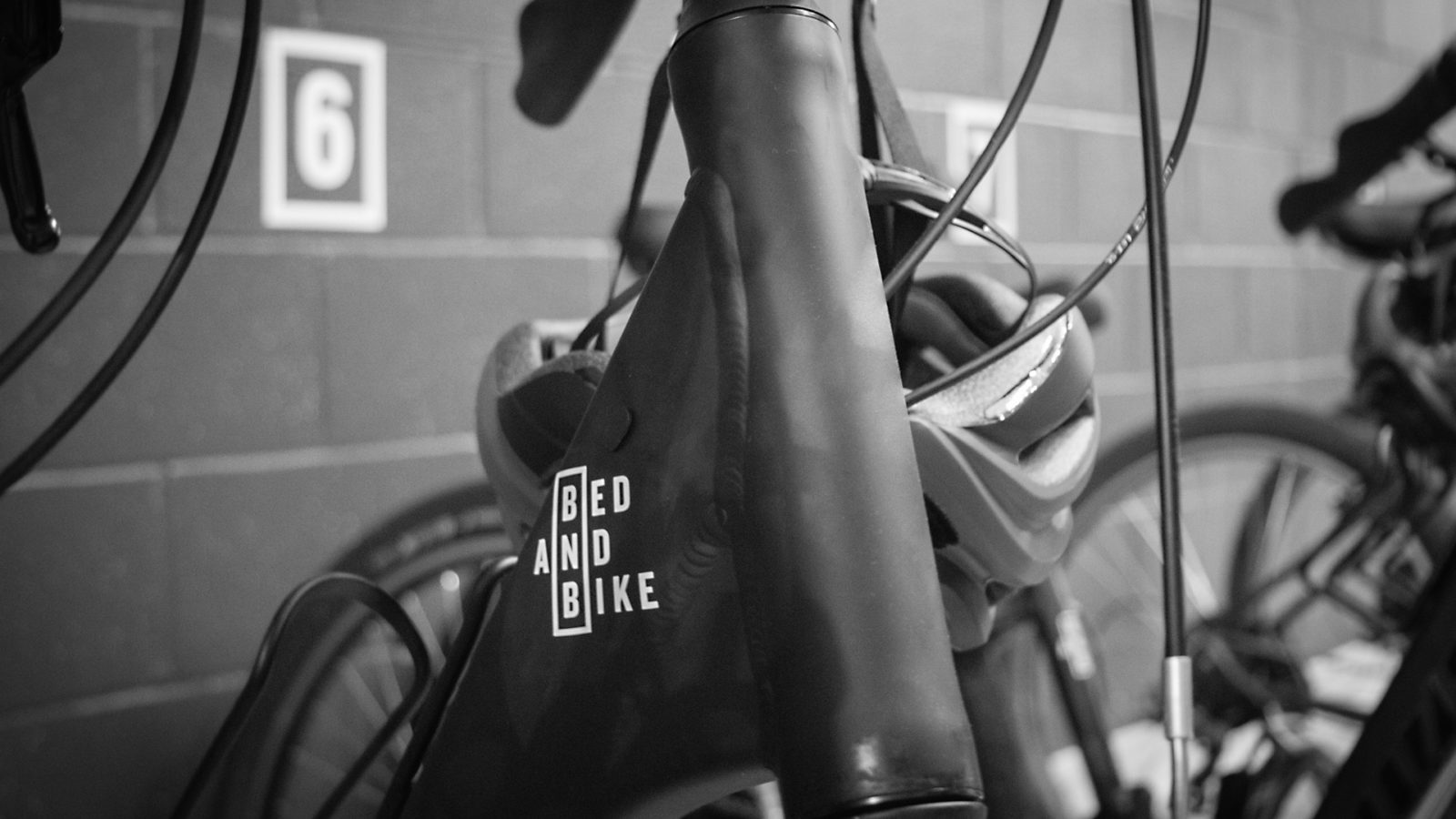 Bike Sticker for Boutique Hotel Branding for Bed and Bike