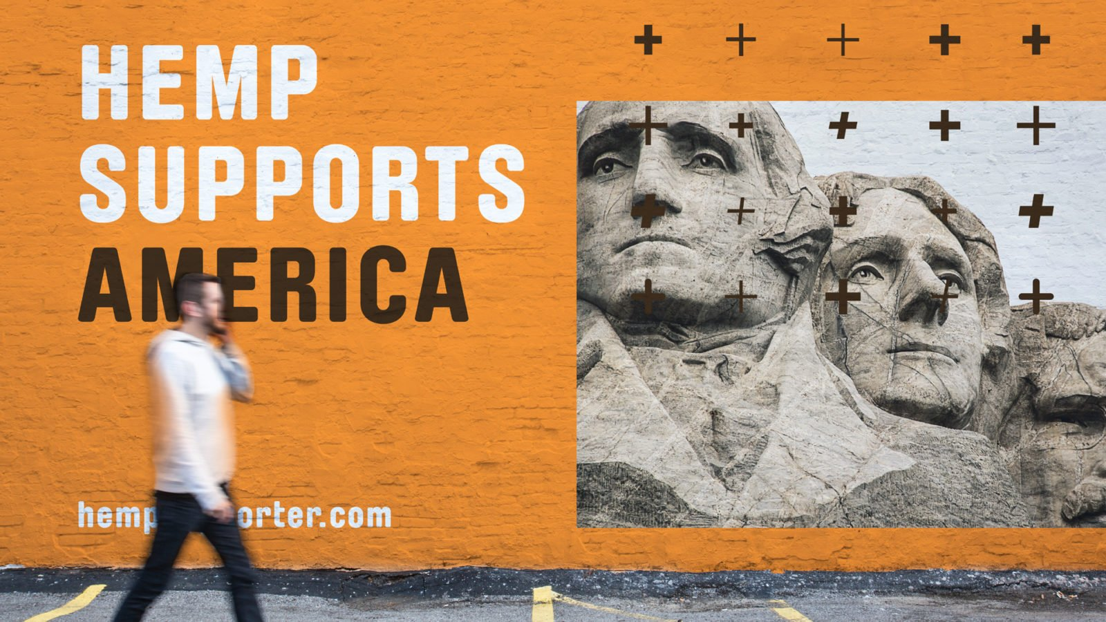 Industrial Hemp Campaign Branding for the US Hemp Roundtable Coalition Wall Design
