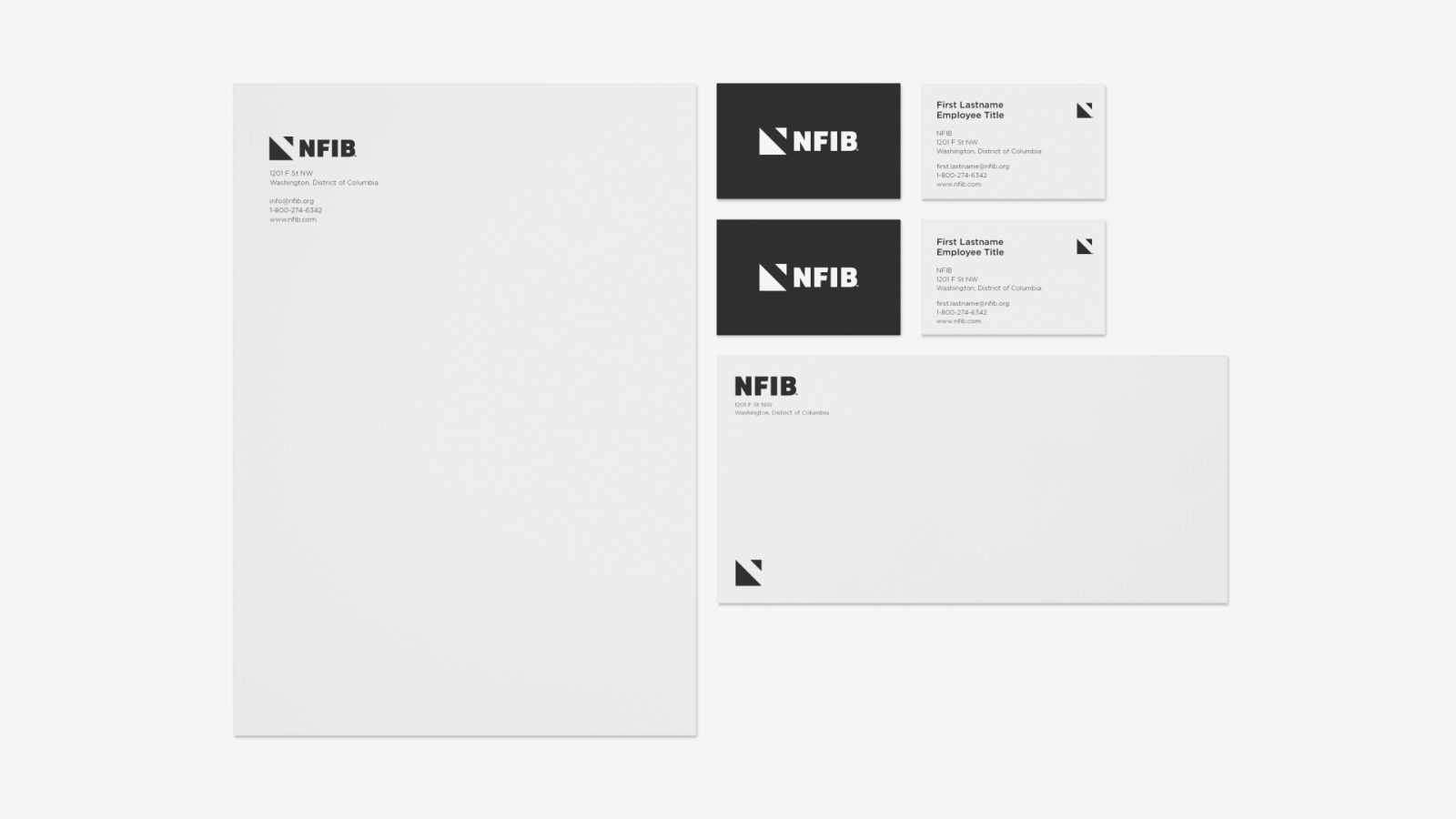 NFIB Independent and Small Business Association Branding and Strategy Stationery