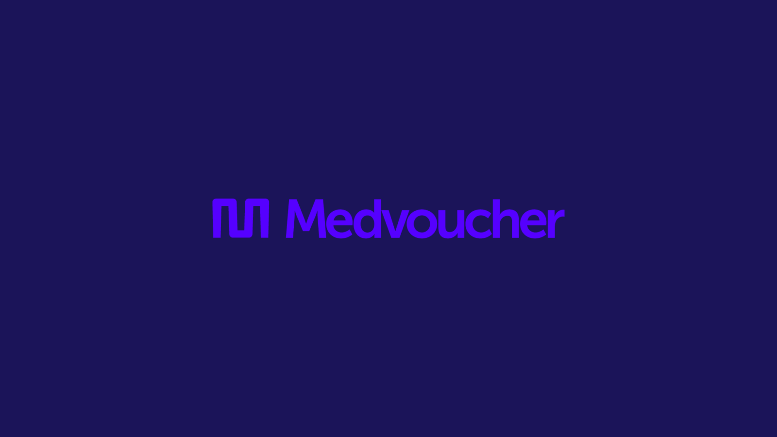 Brand identity logo and strategy for Medvoucher, a healthcare marketplace app