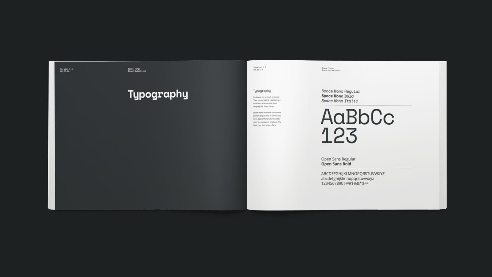 Brand Identity for Space Tango, a microgravity research and manufacturing design Brand Manual