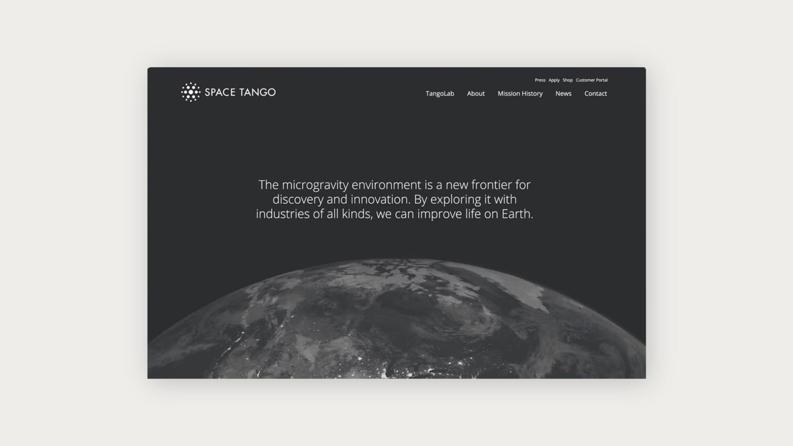 Brand Identity and Website design for Space Tango, a microgravity research and manufacturing company