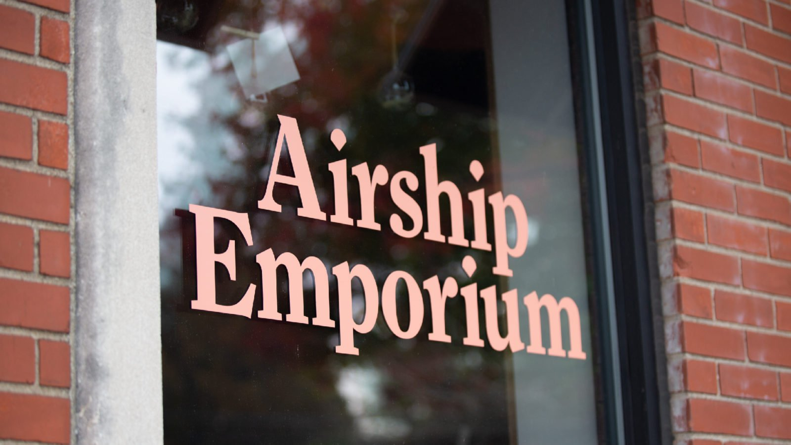 The Opposite Shop: Airship Emporium Door Signage