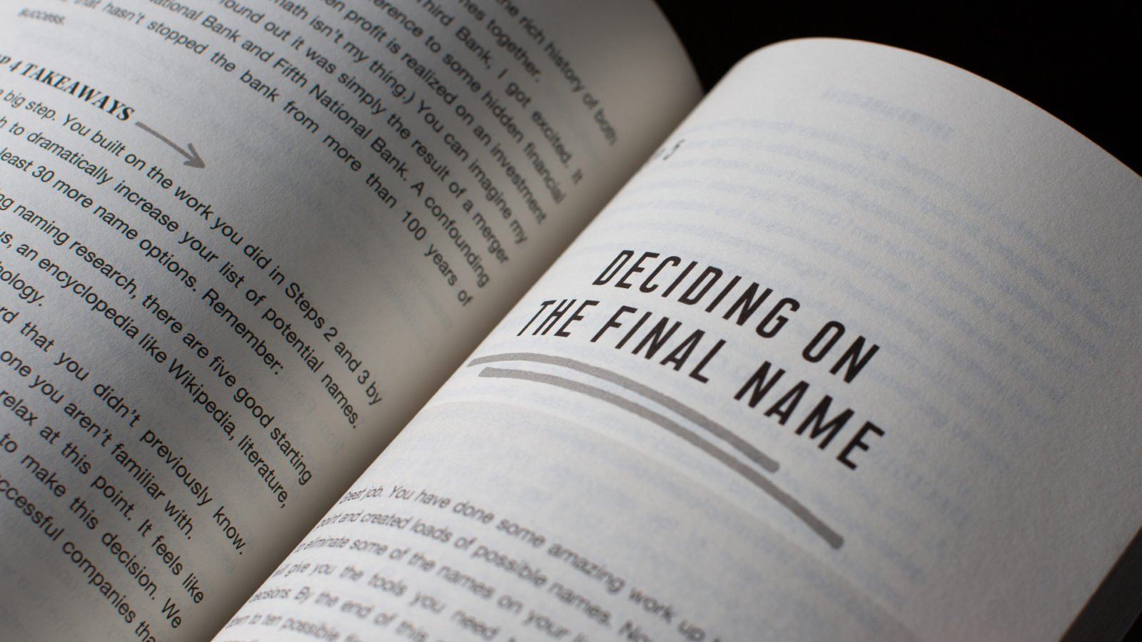 The Naming Book Photography: Open Pages to Deciding on a Final Name