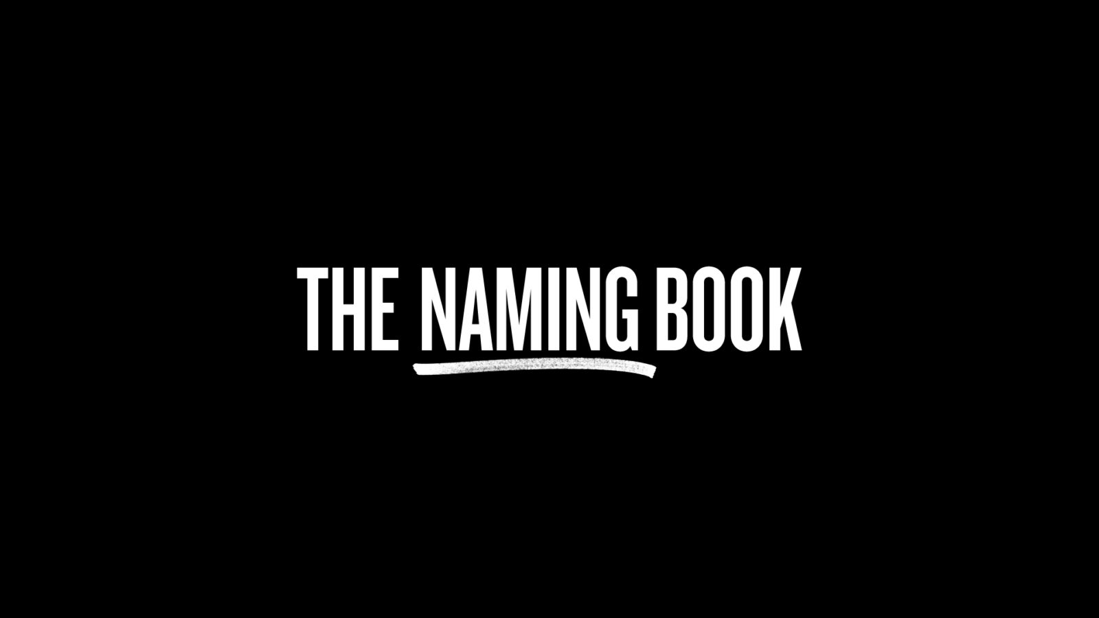 The Naming Book Title Design